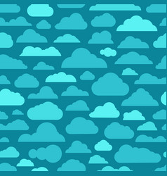 Different abstract cartoon clouds seamless pattern vector