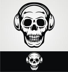 Dj skulls vector