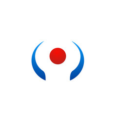 dot leader code abstract logo vector image