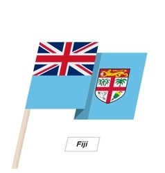 Fiji ribbon waving flag isolated on white vector