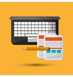 Flat about technology design vector image
