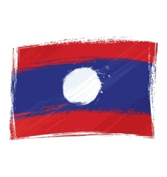 grunge Laos flag vector image vector image
