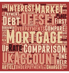 How to perform an offset mortgage comparison text vector