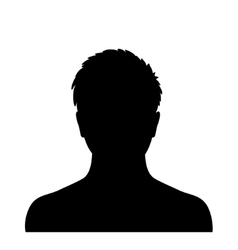 Man silhouette profile picture vector