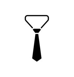 necktie - tie icon black vector image