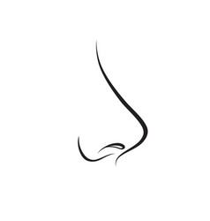 nose isolated human nose icon vector image vector image