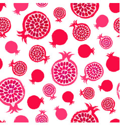 pomegranate background painted pattern vector image