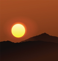 Realistic sunset vector
