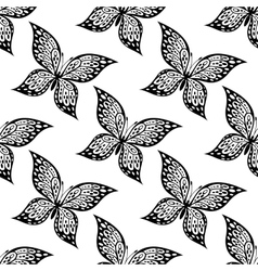 Seamless pattern of beautiful butterfly vector image