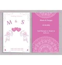 Set of wedding invitations and announcements vector image vector image