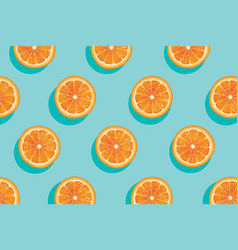 Slices of fresh orange summer background vector