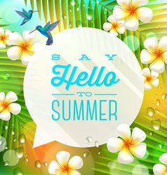 Speech bubble with summer greeting vector