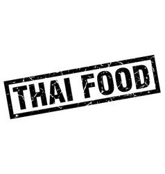 Square grunge black thai food stamp vector