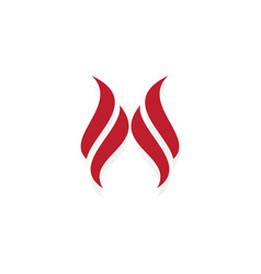 swirl wing art logo vector image vector image