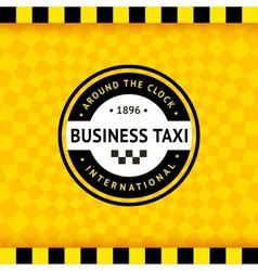 Taxi symbol with checkered background - 24 vector image vector image