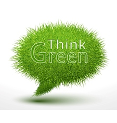 Think green concept on grass vector image vector image