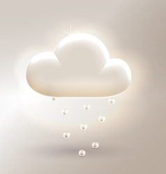 Pearl clouds decorative vector image
