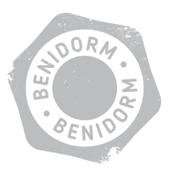 Benidorm stamp rubber grunge vector image