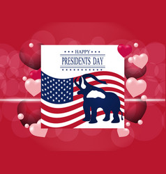 Presidents day greeting card the elephant in the vector
