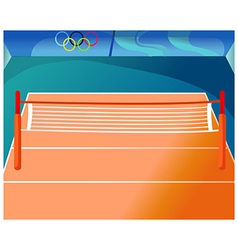 Olympics tennis court vector