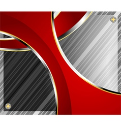 Glass with red curve background vector