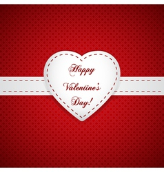 paper Valentines day card vector image