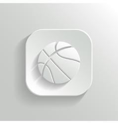 Basketball icon - white app button vector