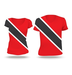 Flag shirt design of trinidad and tobago vector