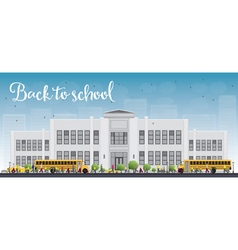 School and bus vector