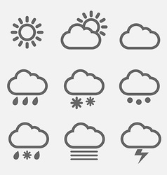 Meteorology icons vector