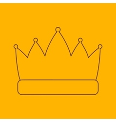 Crown line icon vector