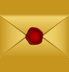 gold envelope vector image
