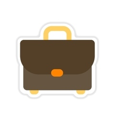paper sticker on white background business case vector image