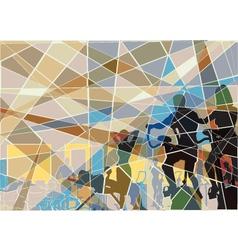 Gymnasium mosaic vector image
