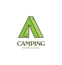 Beautiful minimal camping tent icon logo label vector