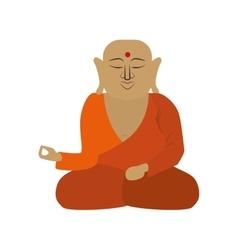 Buddha icon indian culture design graphic vector