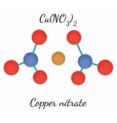 Copper nitrate cun2o6 molecule vector