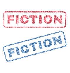 Fiction textile stamps vector