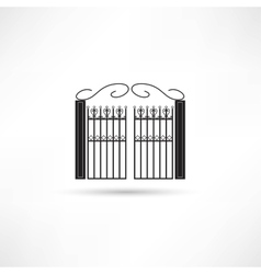 Gate icon vector