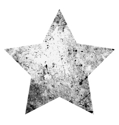 Grunge One Star vector image vector image
