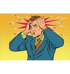 Headaches men severe pain vector image vector image