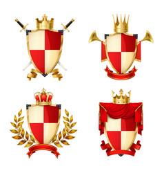 heraldic shields set vector image