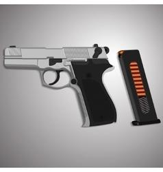 Iron gun with clip vector