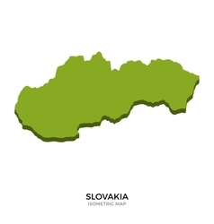 Isometric map of Slovakia detailed vector image vector image