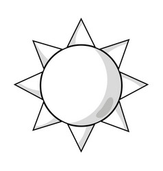 Line natural sun and normal weather icon vector
