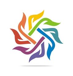 Logo Icon Circle Spin Concept Design vector image