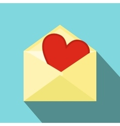 Love letter flat icon vector