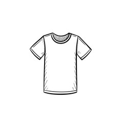 male t-shirt hand drawn sketch icon vector image vector image