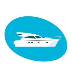 modern side of the passenger boat vector image