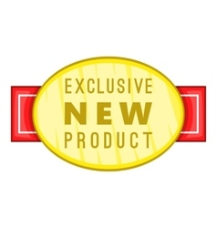 New exclusive product label icon cartoon style vector